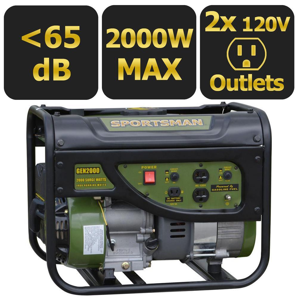 1,400-Watt Gasoline Powered Portable Generator, 50 State Compliant