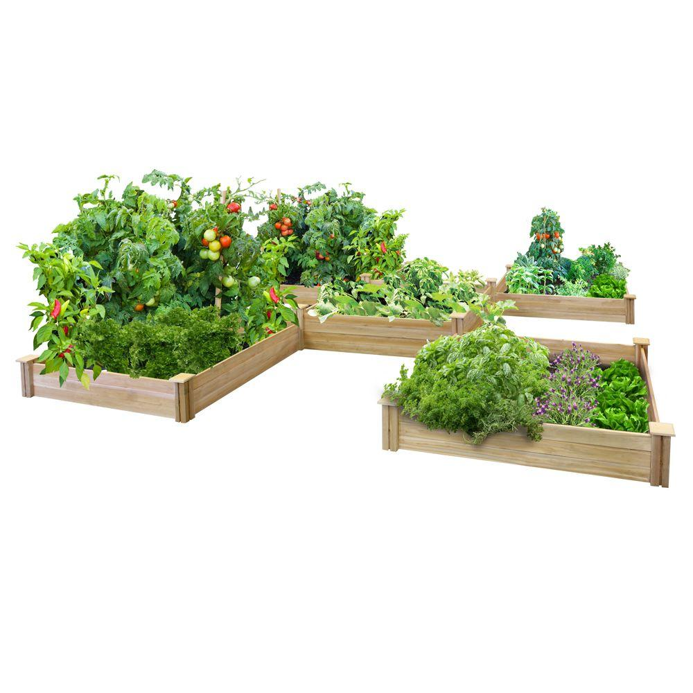 Greenes Fence 80 Sq Ft Dovetail Raised Bed Garden Kit