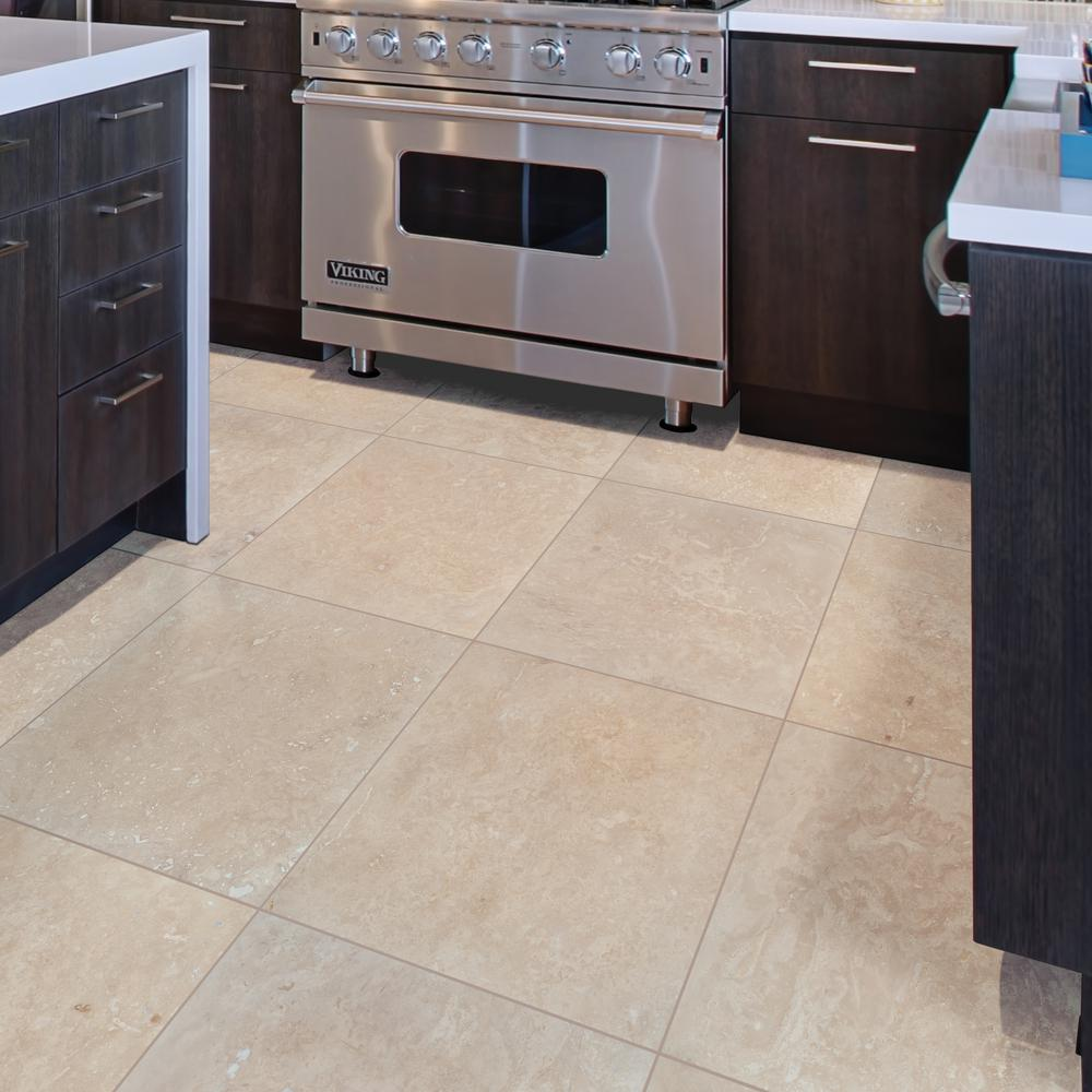 MSI Tuscany Beige 18 in. x 18 in. Honed Travertine Floor and Wall Tile