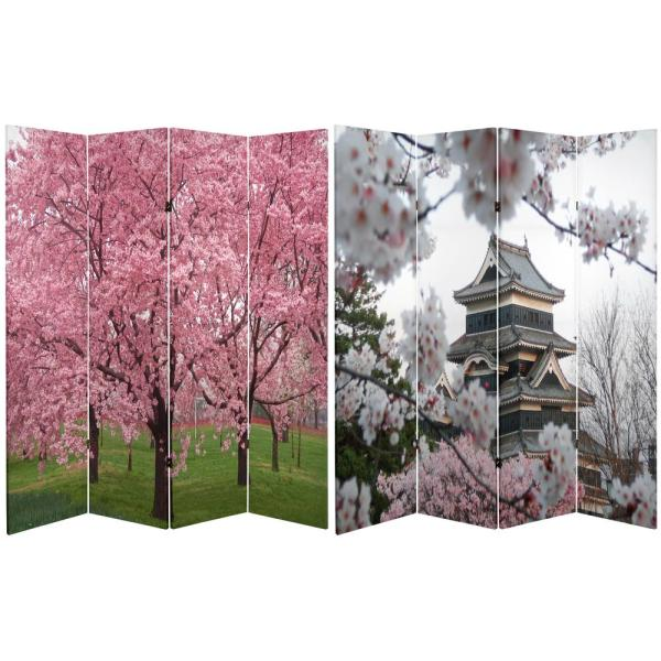 Oriental Furniture 6 ft. Printed 4-Panel Room Divider
