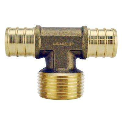 3/4 in. Brass PEX Barb x 3/4 in. Male Pipe Thread Adapter Tee