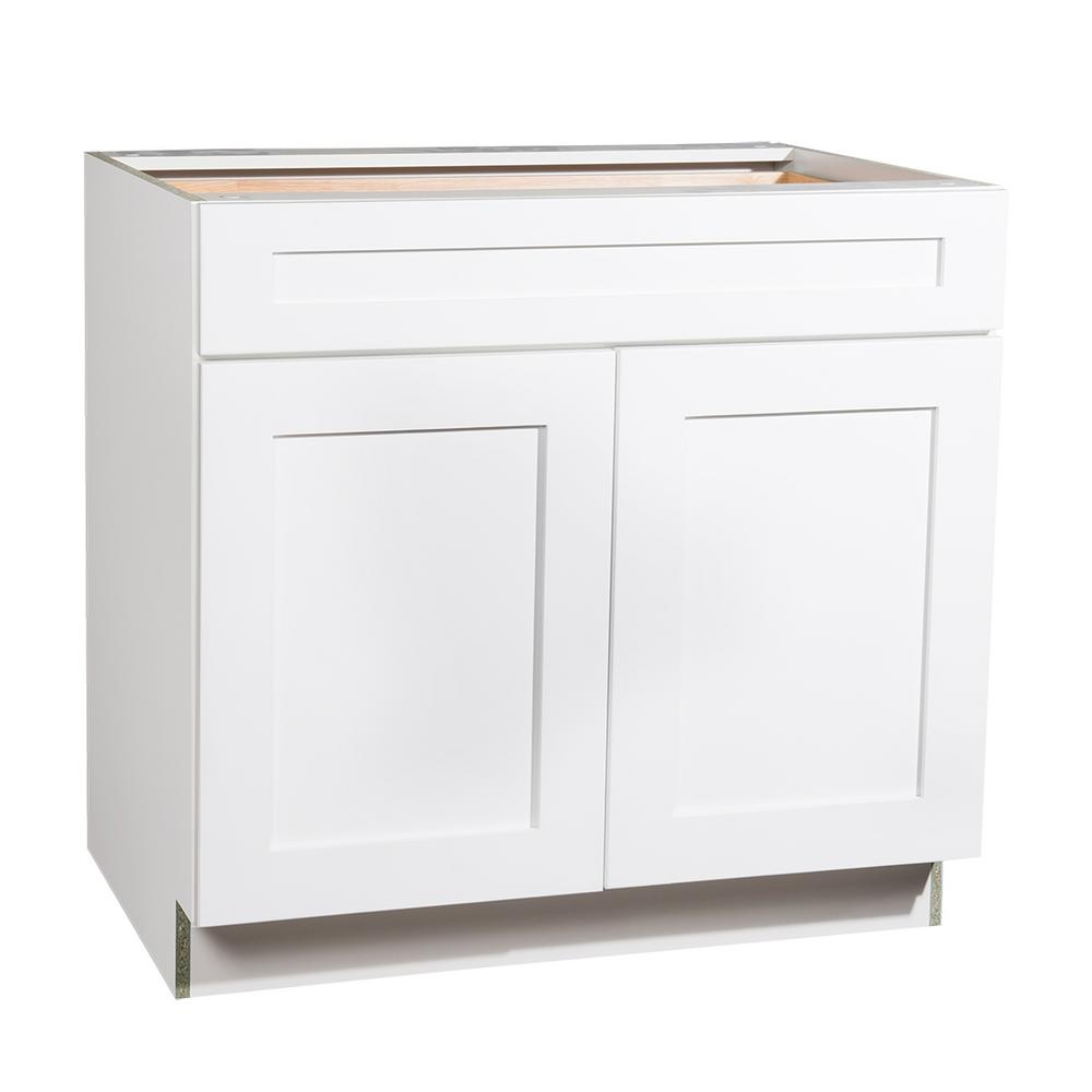 Kitchen Cabinet Doors And Drawers: Krosswood Doors Ready To Assemble 36x34.5x23.7 In. Shaker