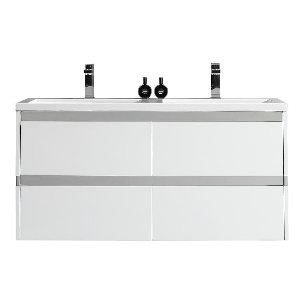 OVE Decors Durante 48 in. W x 18.3 in. D Vanity in White ...