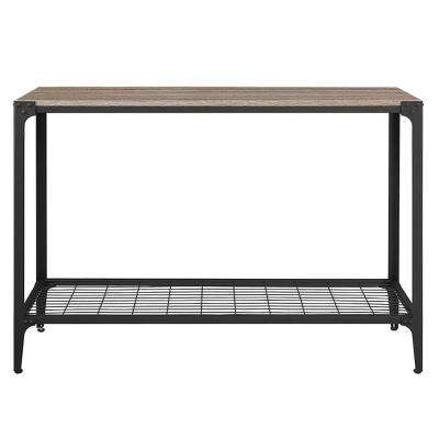 Angle Iron Driftwood Console Table