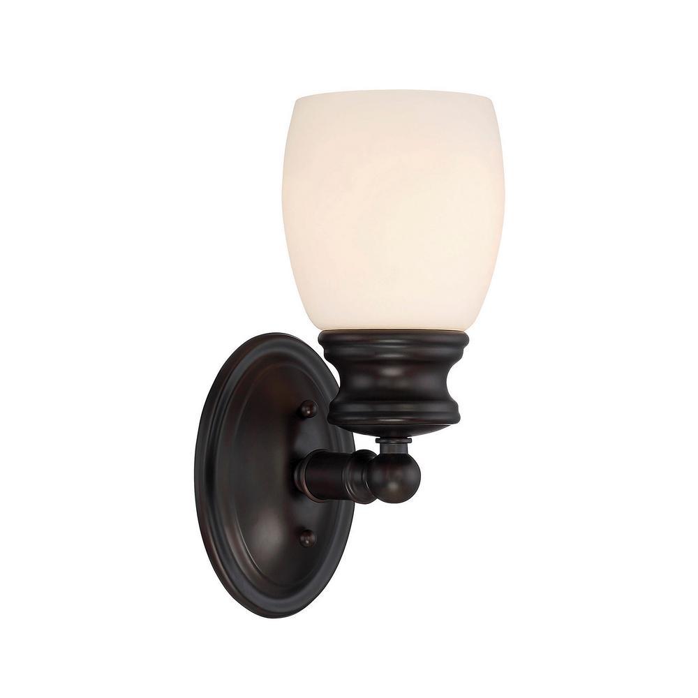1-Light English Bronze Bath Light
