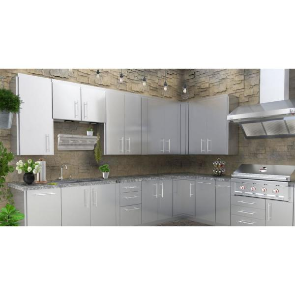 Sunstone Stainless Steel 18 In X 21 In X 14 In Outdoor Kitchen Cabinet Upper Wall Left Swing Door Cabinet Swc18csdl The Home Depot
