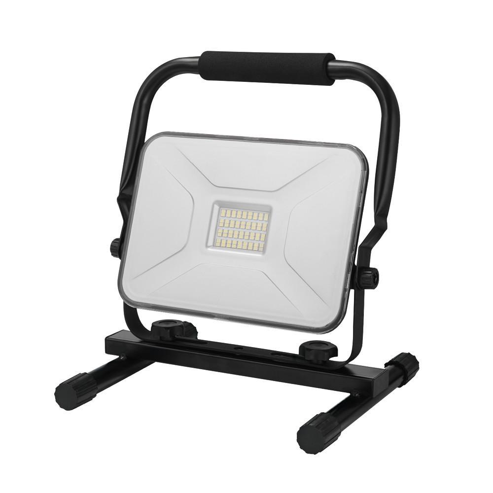 30-Watt Black 2100 Lumens Integrated LED Plug-In Work Light