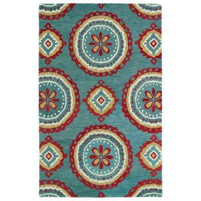 Global Inspiration Teal 8 ft. x 10 ft. Area Rug
