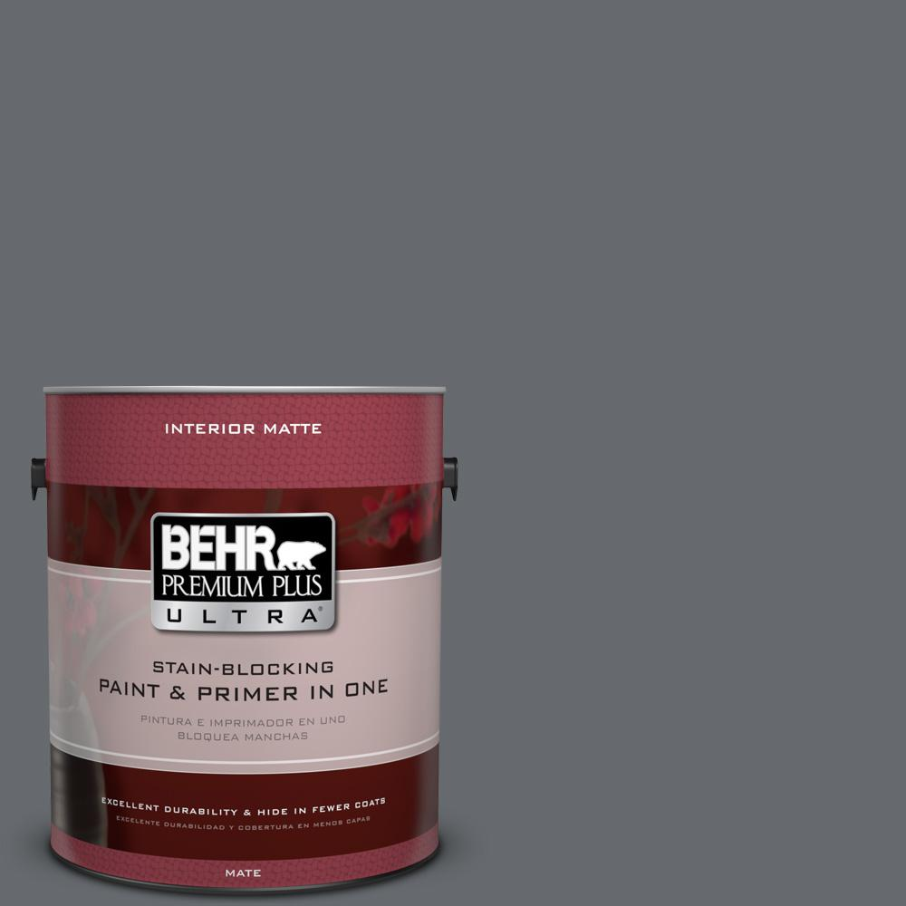 1 gal. #HDC-CL-04G Liberty Bell Gray Matte Interior Paint
