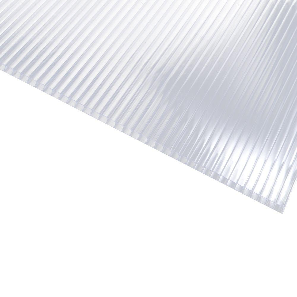 Polycarbonate Clear Twinwall Roof Panel 132506   The Home Depot
