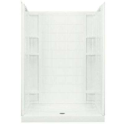 Ensemble 35-1/4 in. x 60 in. x 77 in. Shower Kit in White