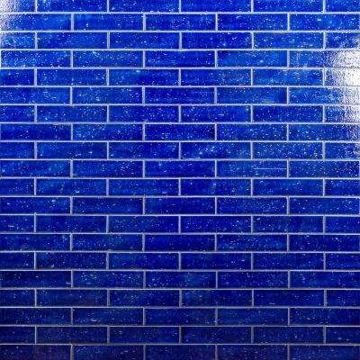 Rhythmic Blue Dusk 2 in. x 9 in. 12mm Glazed Clay Subway Tile (30-piece 4.63 sq. ft. / box)