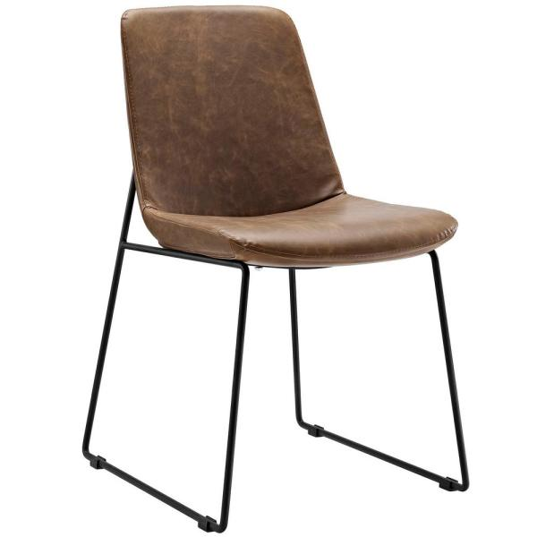 MODWAY Invite Brown Dining Side Chair EEI-1805-BRN