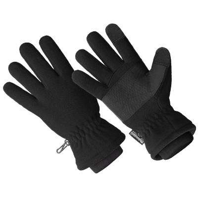 3M Thinsulate Lined 40 gm Black 100% Waterproof Micro Fleece Glove, Premium Touchscreen (1 Size Fits All)