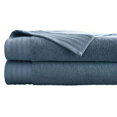 Oversized Quick Dry Bath Sheets in Soft Blue (2-Pack)