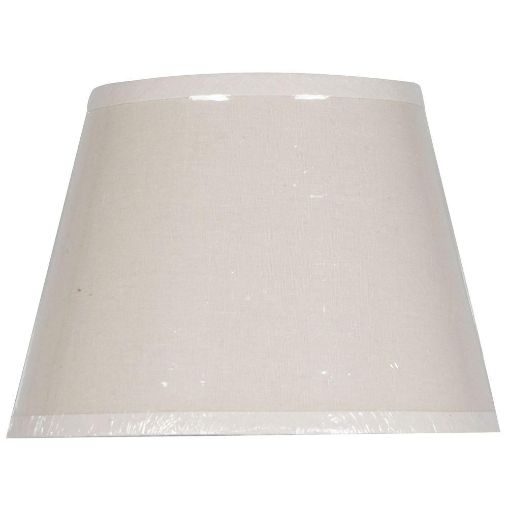 Lamp shades lamps the home depot mix amp match linen oval accent lamp shade keyboard keysfo Images