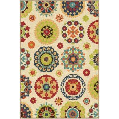 Salsalito Beige 4 ft. x 5 ft. Indoor/Outdoor Area Rug