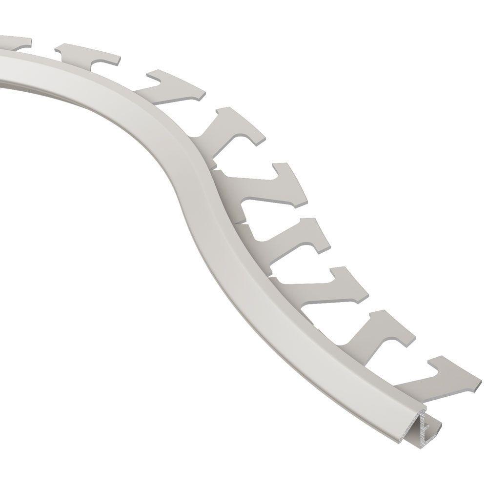 Schluter Reno-TK Satin Nickel Anodized Aluminum 3/8 in. x 8 ft. 2-1/2 in. Metal Radius Reducer Tile Edging Trim