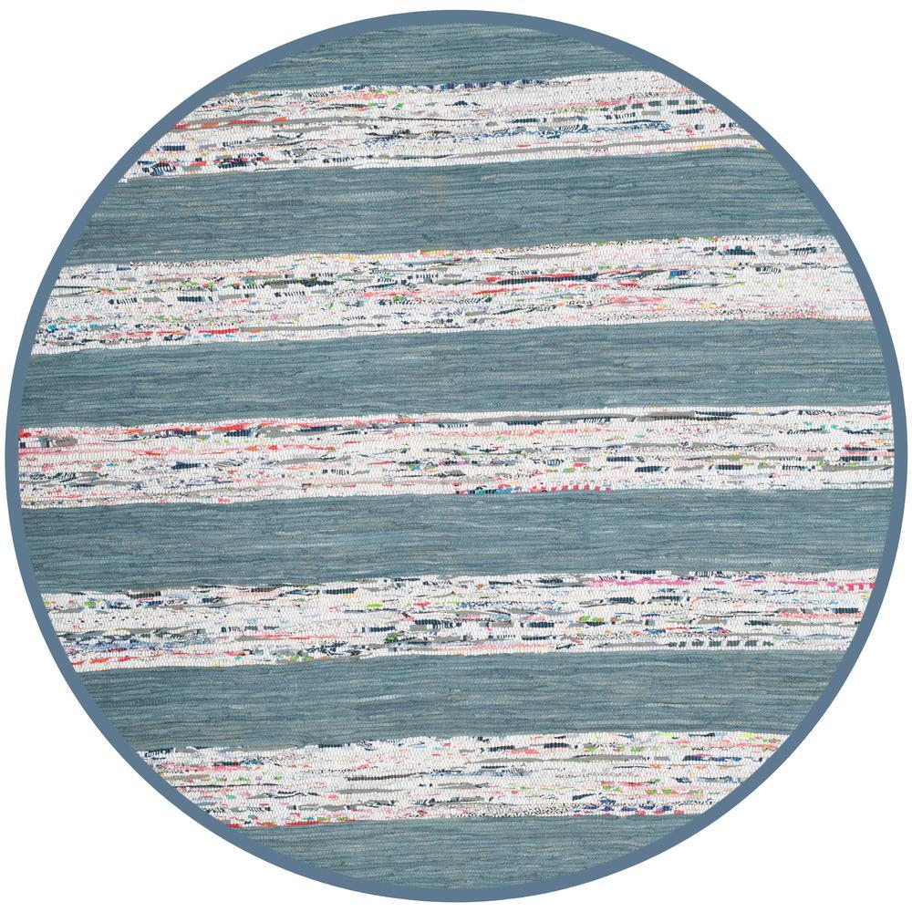 Montauk Ivory/Gray 6 ft. x 6 ft. Round Area Rug