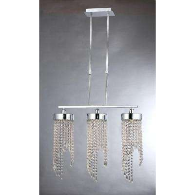 Lillian 3-Light Chrome Indoor Crystal Chandelier with Shade