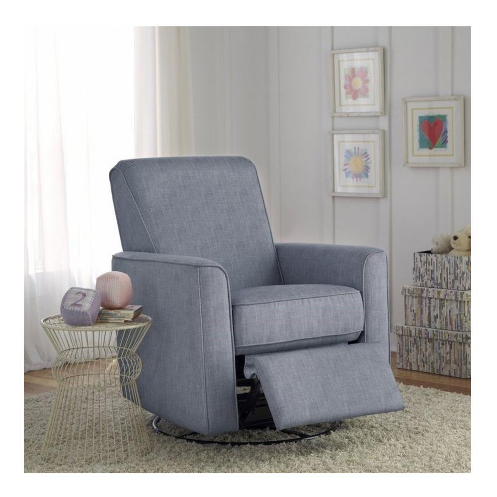 Fabulous Pri Harmony Carlton Dove Gray Fabric Swivel Glider Recliner Bralicious Painted Fabric Chair Ideas Braliciousco