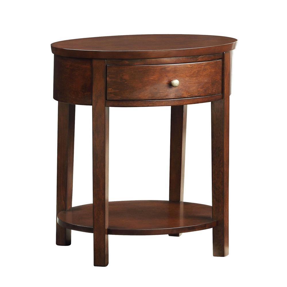HomeSullivan Kissel Brown Oval Accent Table 40565A163W3A