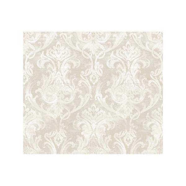 Chesapeake Elsa Silver Ornate Damask Wallpaper ARS26033