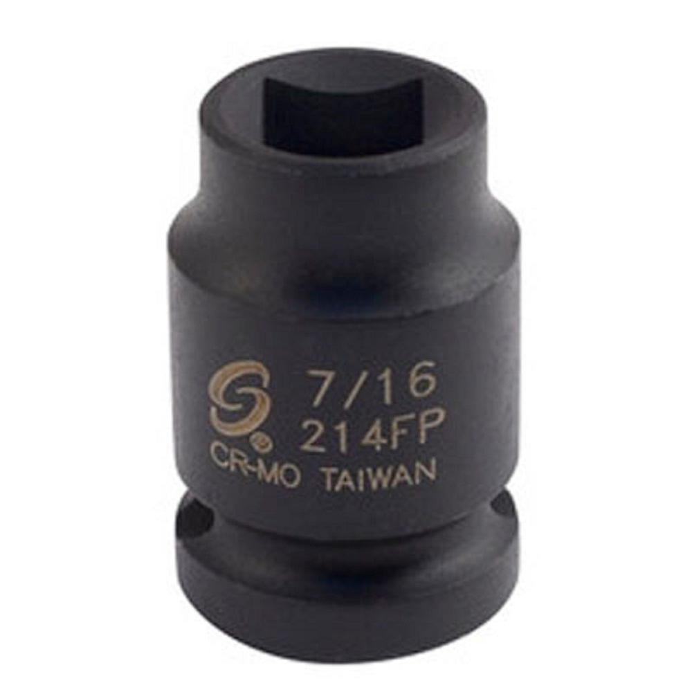 Sunex 7/16 in. 1/2 in. Driver Pipe Plug Socket