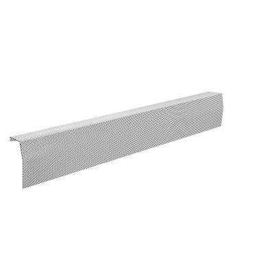 Premium Series 5 ft. Galvanized Steel Easy Slip-On Baseboard Heater Cover in White