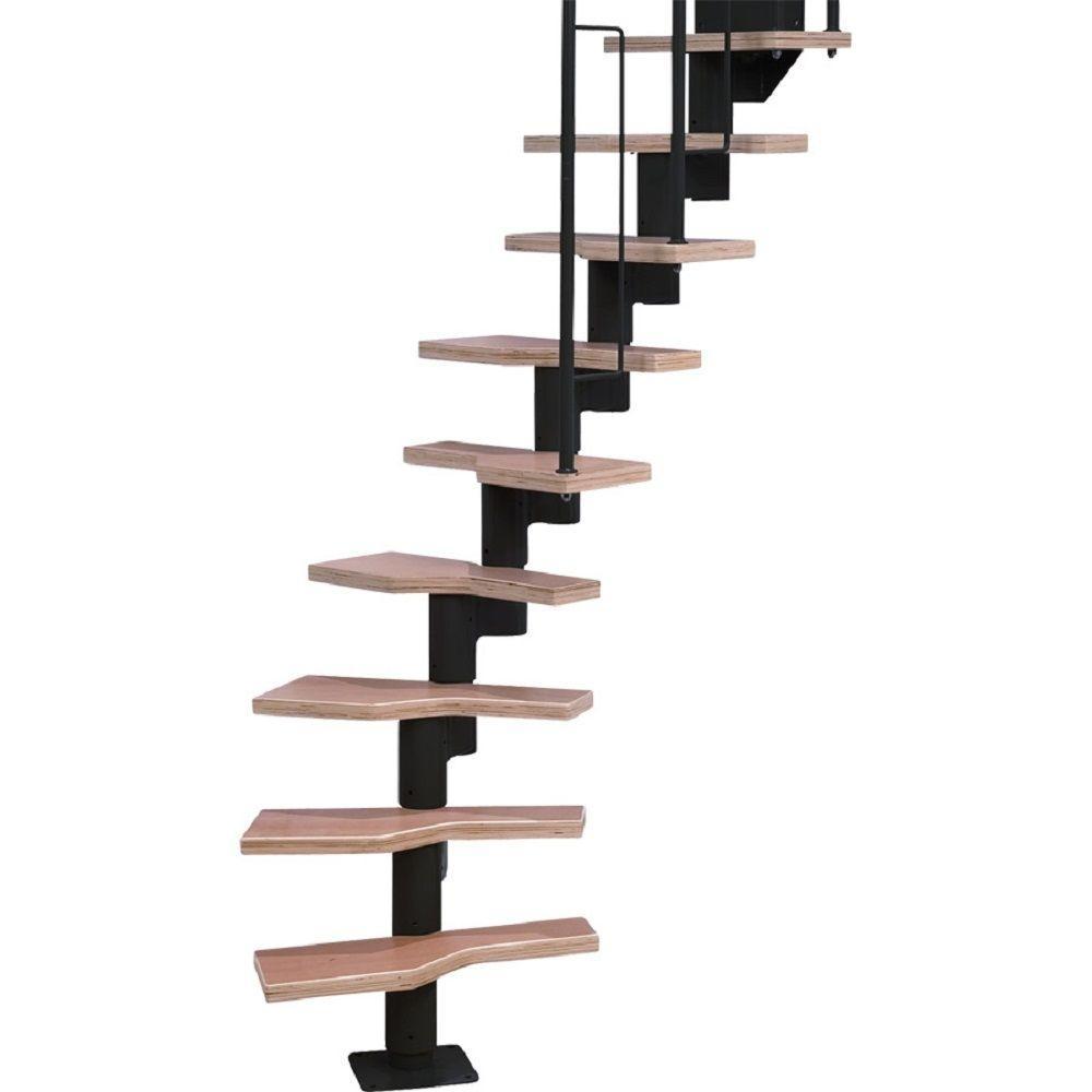 Graz 23 in. Black Modular 12 Tread Stair Kit