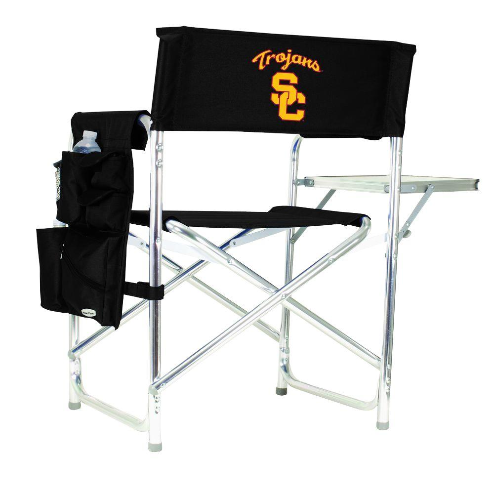 University of Southern California Black Sports Chair with Digital Logo