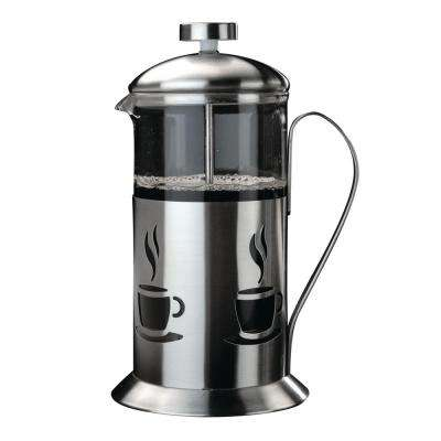 CooknCo 4-Cup French Press in Silver