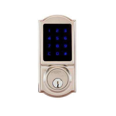 Heritage Z Wave Smart Home Satin Stainless Single Cylinder Electronic Deadbolt