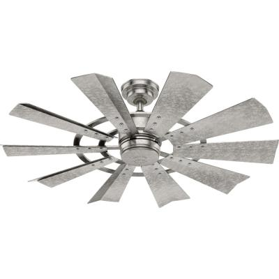Crescent Falls 44 in. Indoor/Outdoor Galvanized Ceiling Fan with Wall Control
