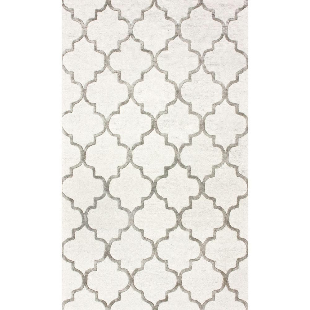 nuLOOM Park Avenue Trellis Nickel 5 ft x 8 ft Area Rug SBHAC13A