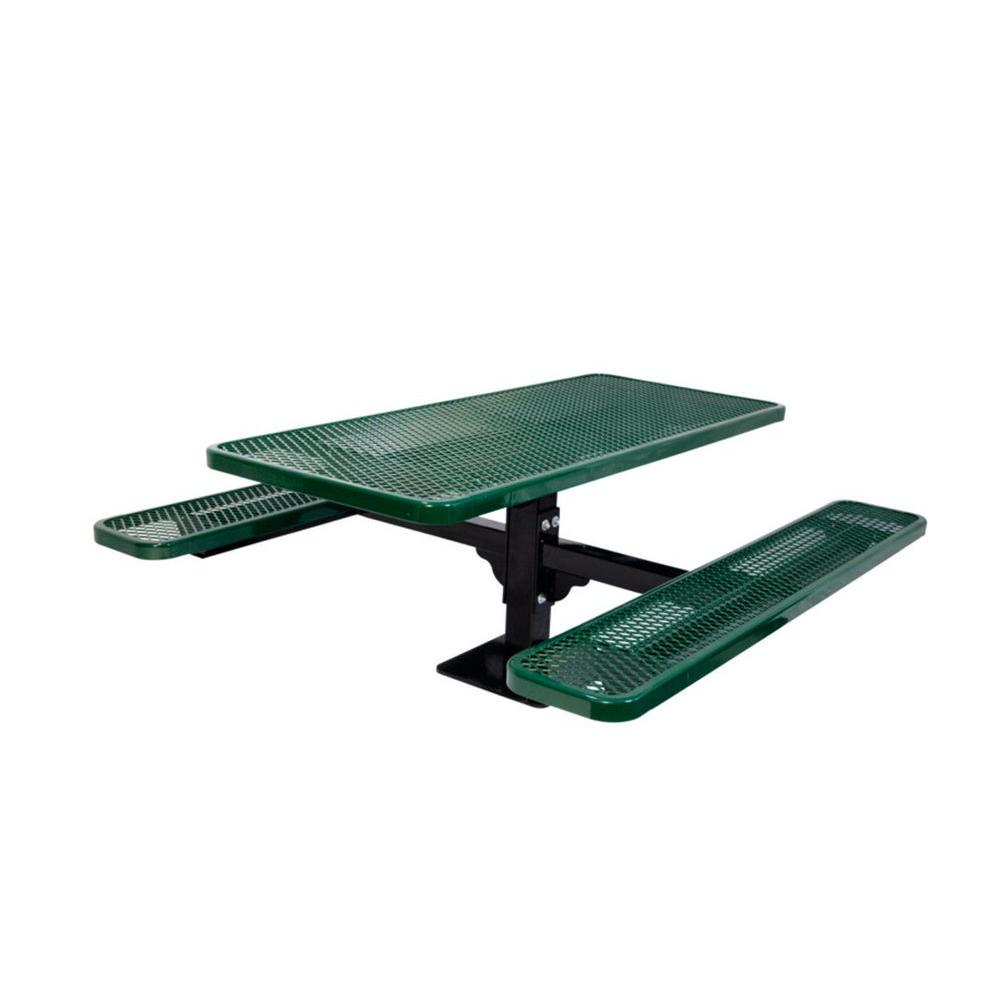 Ultra Play 6 ft. Diamond Green Commercial Park Surface Mount Rectangular Table