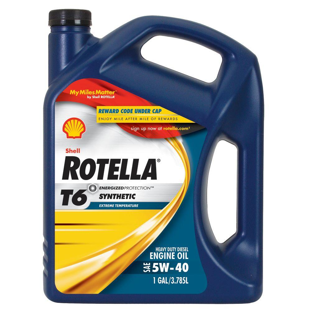 Rotella 128 Oz 5w 40 Motor Oil 550019921 The Home Depot