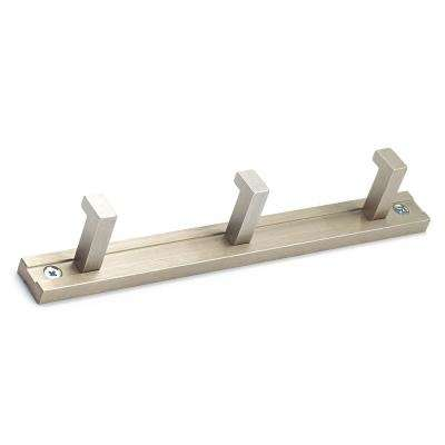 8-1/2 in. (216 mm) Brushed Nickel 22 lbs. Hook Rack