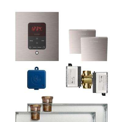 MS Butler 2 Package with iTempo Pro Square Programmable Control for Steam Bath Generator in Brushed Nickel