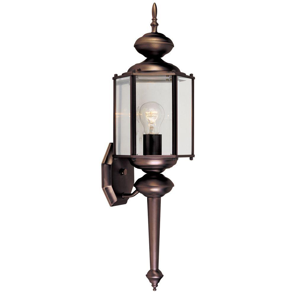 Designers Fountain Exeter Collection Distressed Bronze Outdoor Wall Mount Lantern
