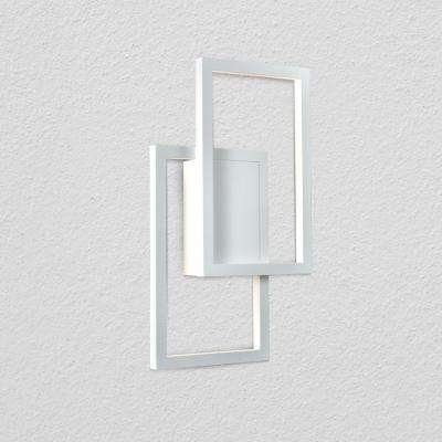 Radium 11.75 in. White Integrated LED Sconce