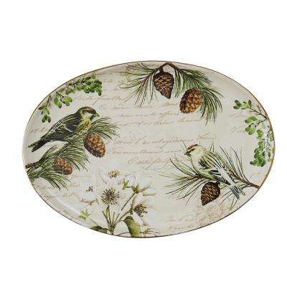 Wintertime Ceramic Platter