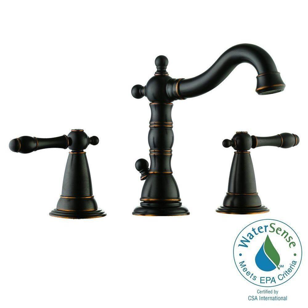 Design House Oakmont 2 Handle Lavatory Faucet In Oil Rubbed Bronze 523324 The Home Depot
