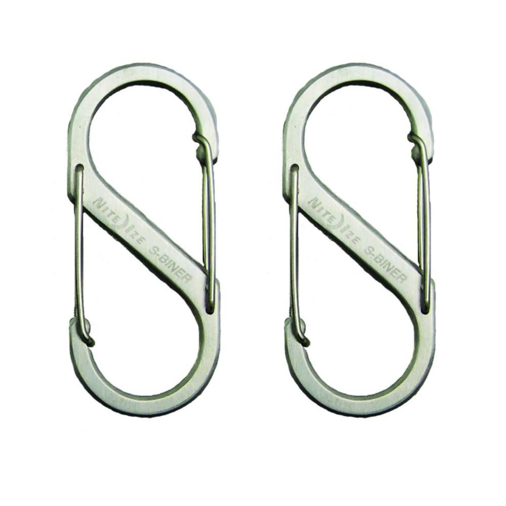 #1 Stainless S-Biner (2-Pack)