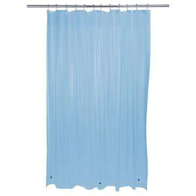 72 in. x 72 in. Heavy Grommet Shower Liner in Blue