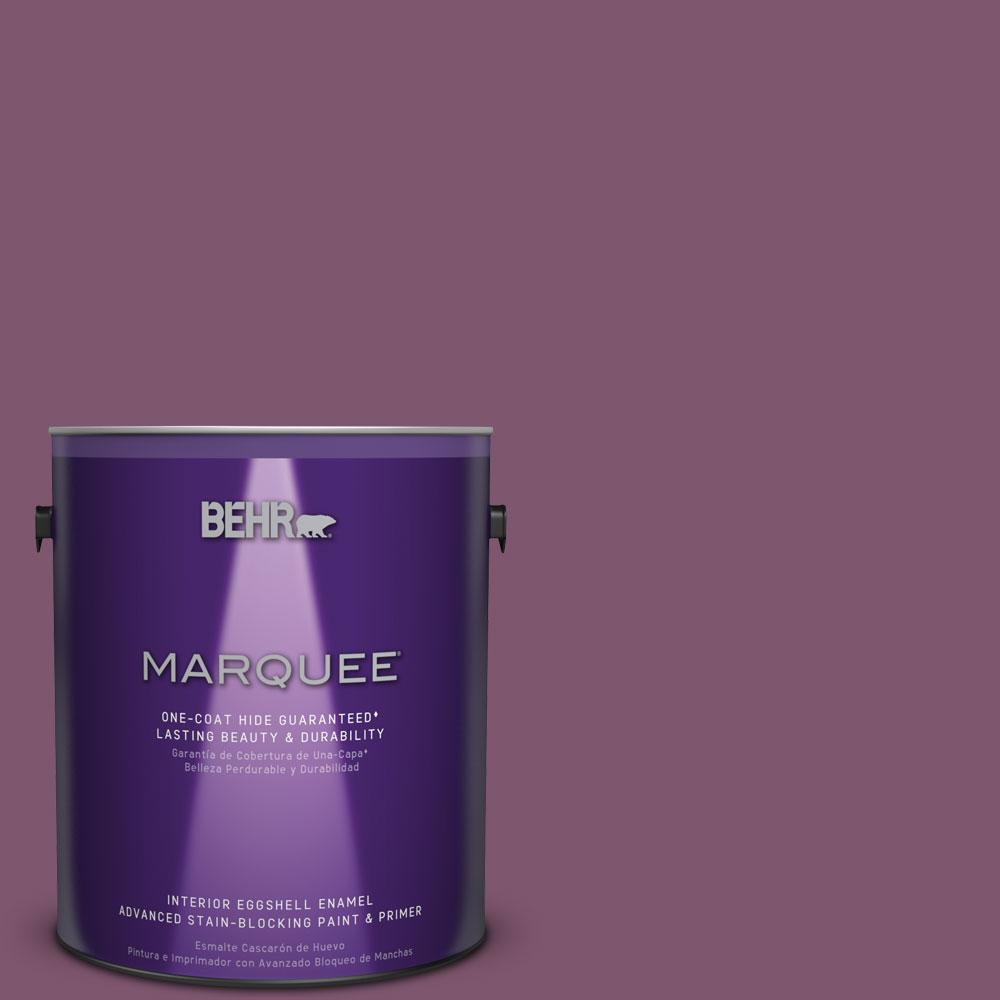 1 gal. #M110-7 Euphoric Magenta One-Coat Hide Eggshell Enamel Interior Paint