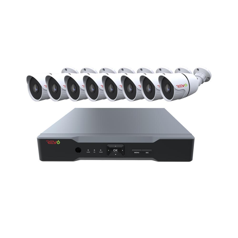 Aero 8-Channel HD 1TB Surveillance DVR with 8 Indoor/Outdoor Cameras