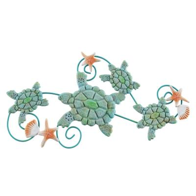 Swimming Sea Turtles Metal Wall Art