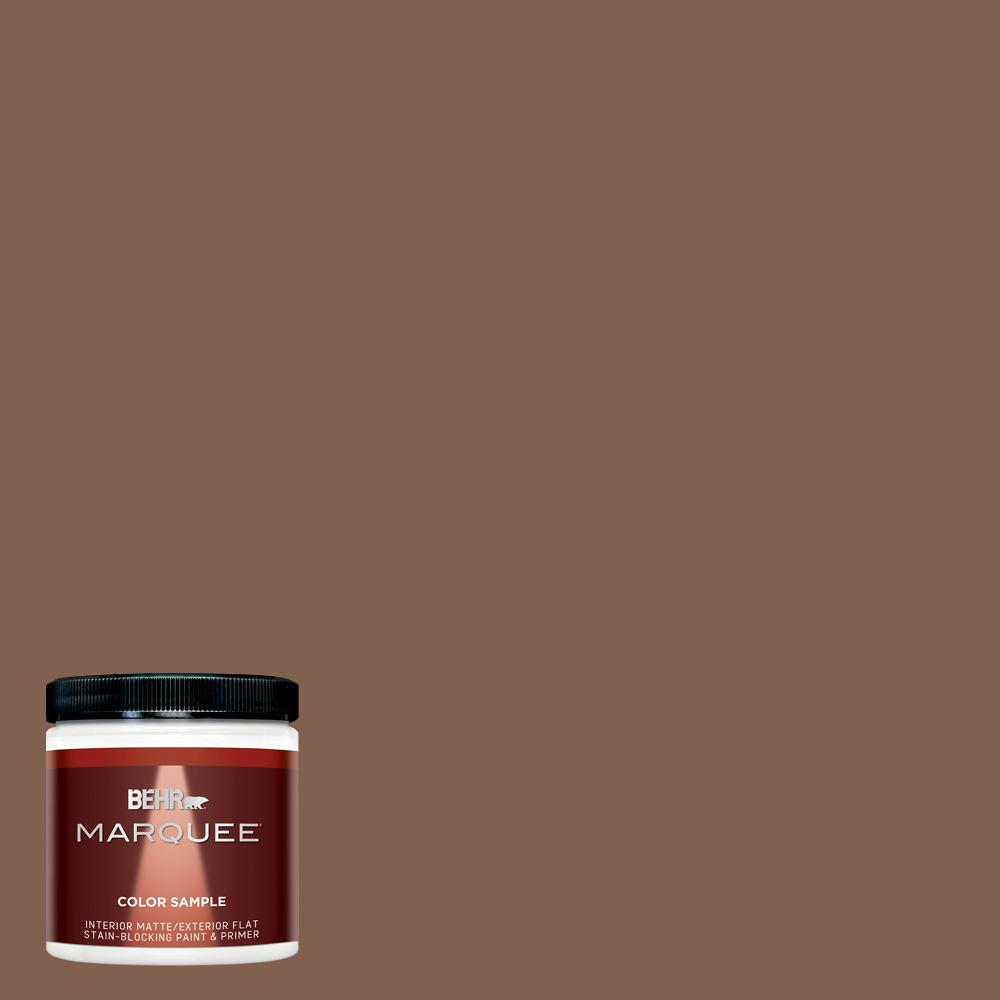 8 oz. #HDC-SP14-6 Tilled Earth Matte Interior/Exterior Paint Sample