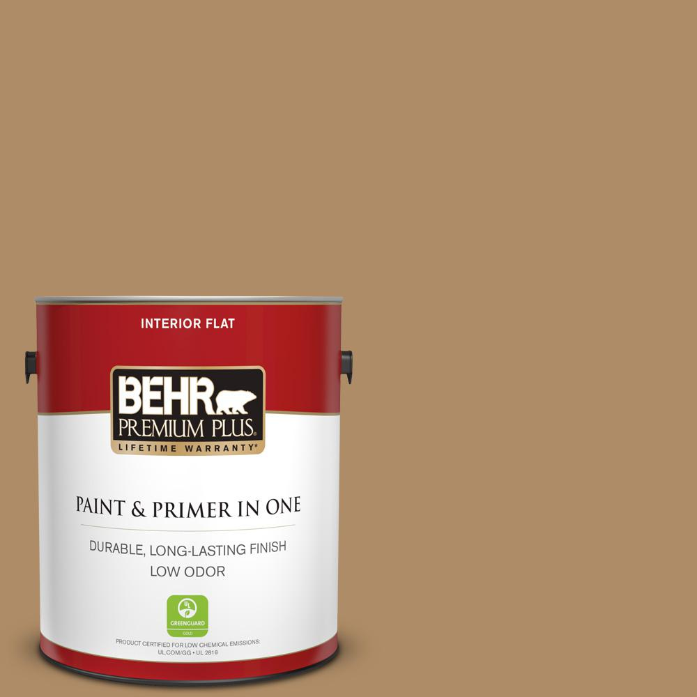 1 gal. #300F-5 Brown Rabbit Flat Low Odor Interior Paint and